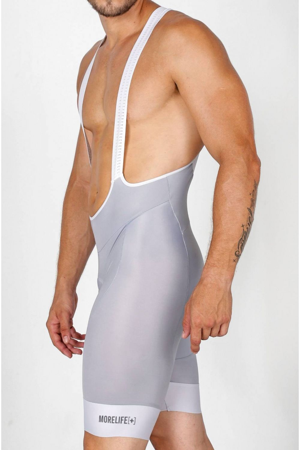 GREY SILVER BIB SHORT CE2528H