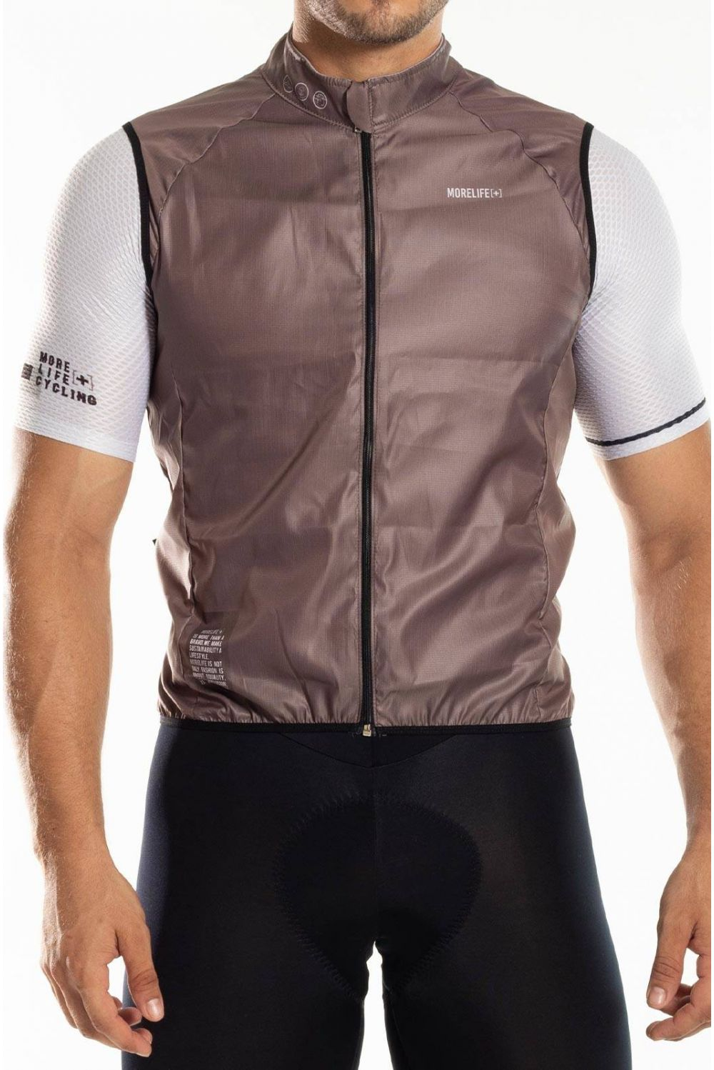 Light Coffee Windbreaker Vest CH007H