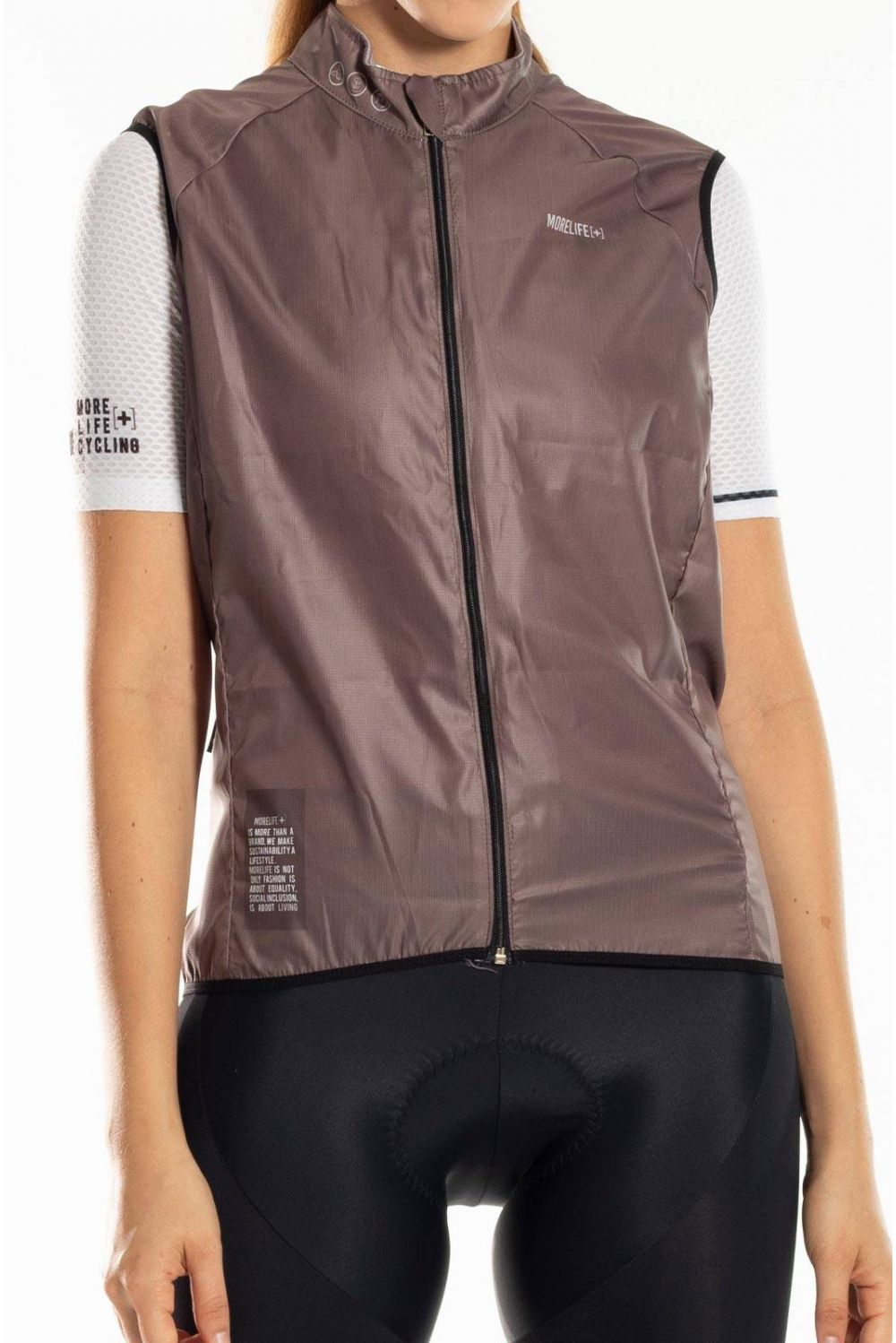 LIGHT COFFEE WINDBREAKER VEST