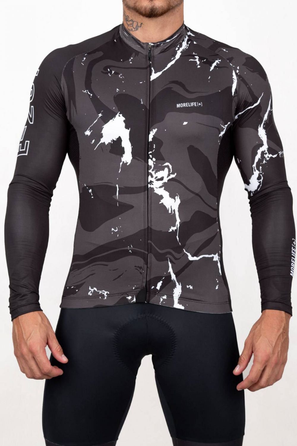 LONG SLEEVE ACTIVE BLACK MARBLE JERSEY BC2226LH